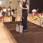 Erika Balbino no palco