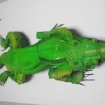 lagarto - 120x50x30cm-poliuretano+ferro+brinquedos