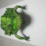 sapo - 80x60x40cm-poliuretano+ferro+brinquedos